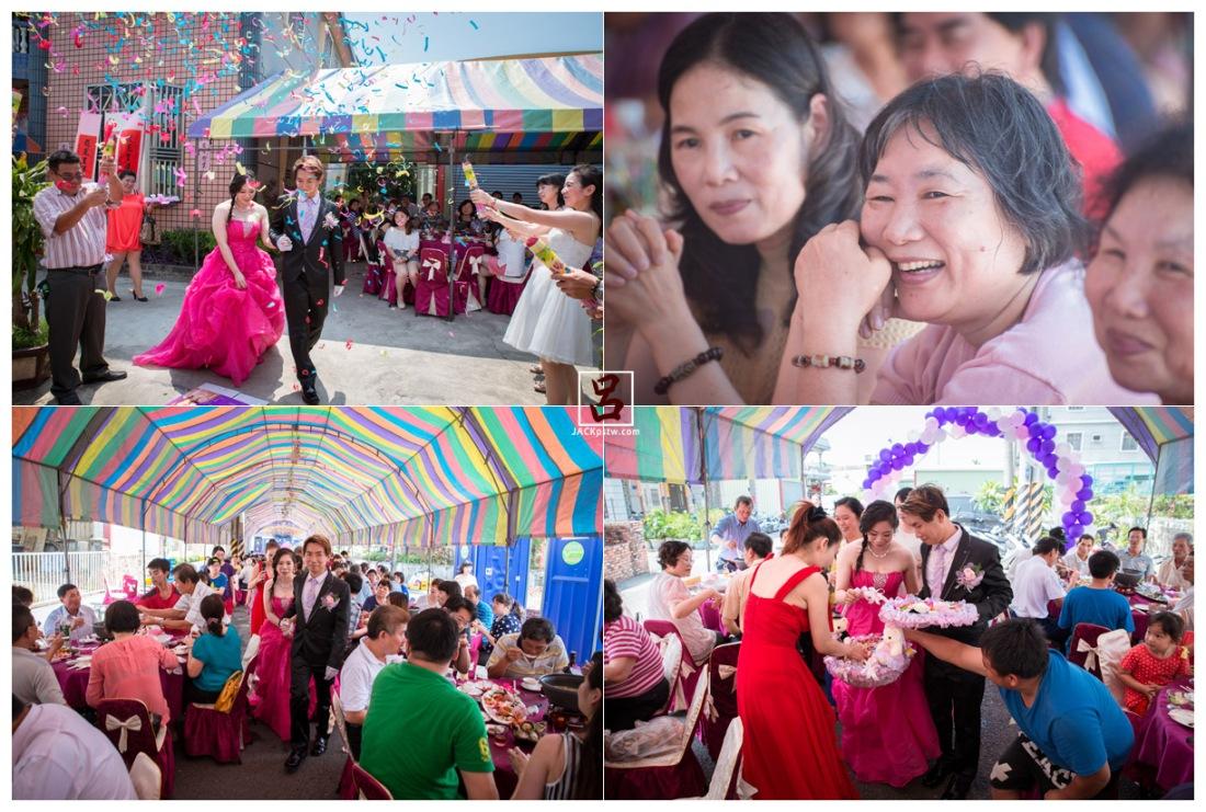 新娘進場,賓客的表情,發喜糖