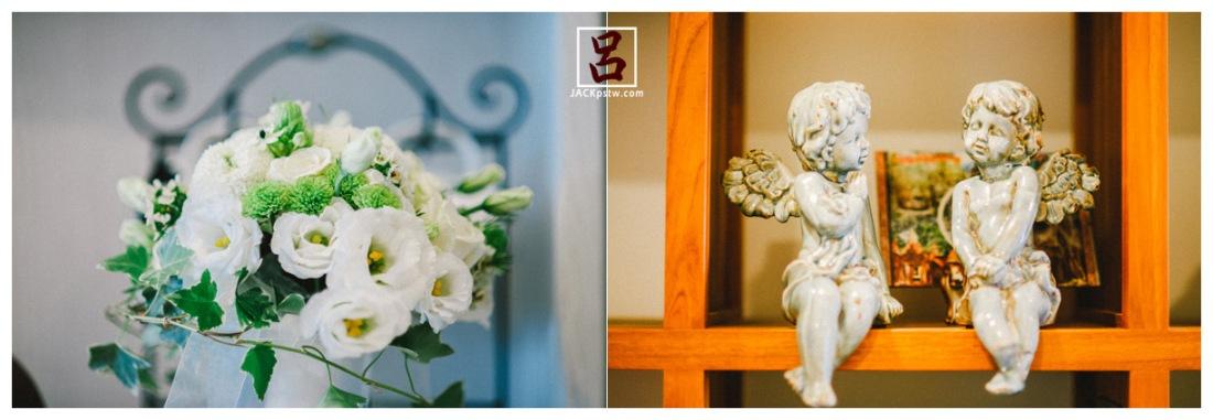 新郎家的裝潢小天使,今天新娘的捧花