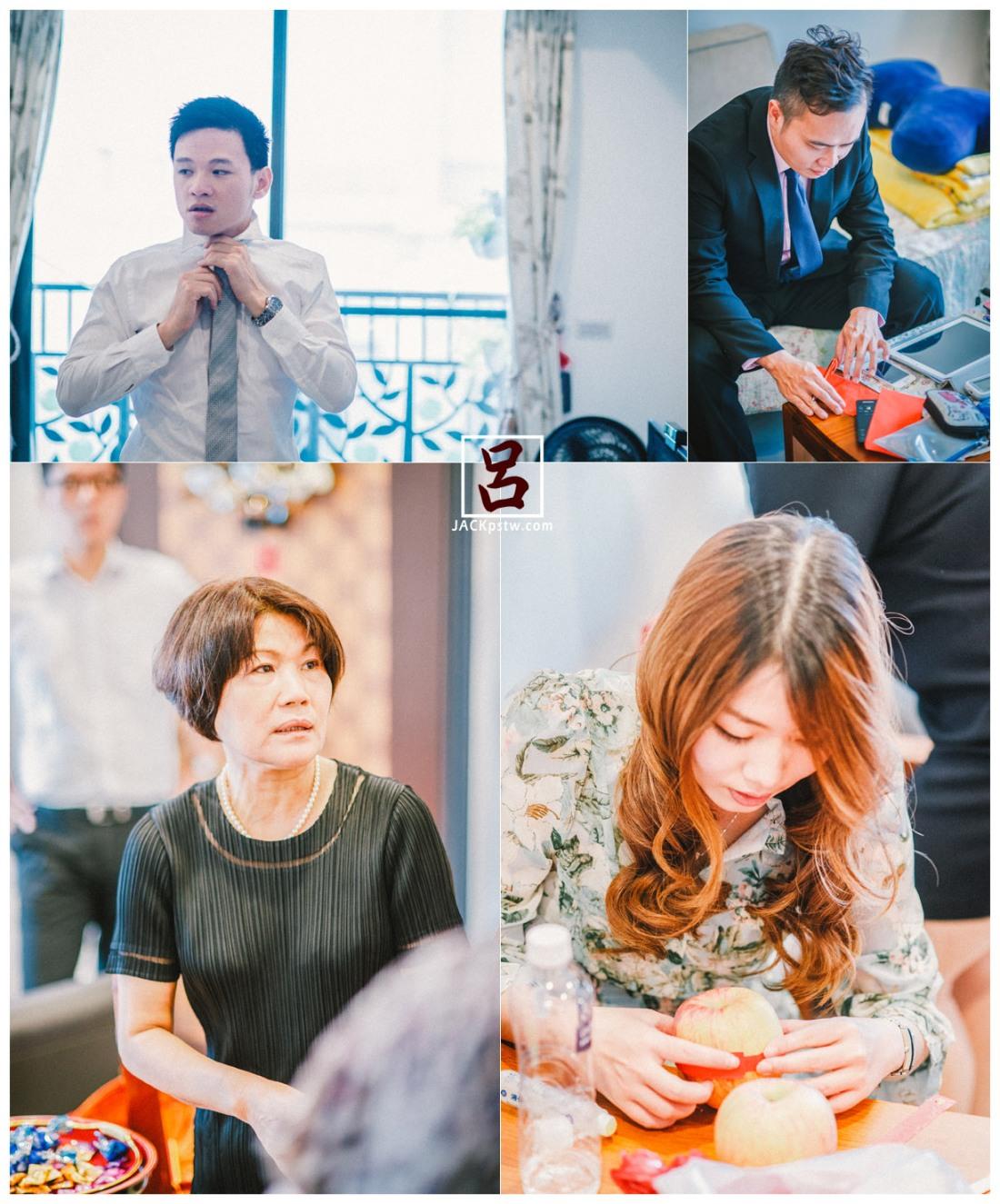 特別從日本回的朋友,伴郎在寫紅包,媒婆,親友在剪紅紙貼在蘋果