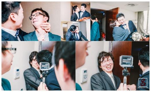 闖關最後一關, 新郎kiss 15次, 伴郎嚇死了