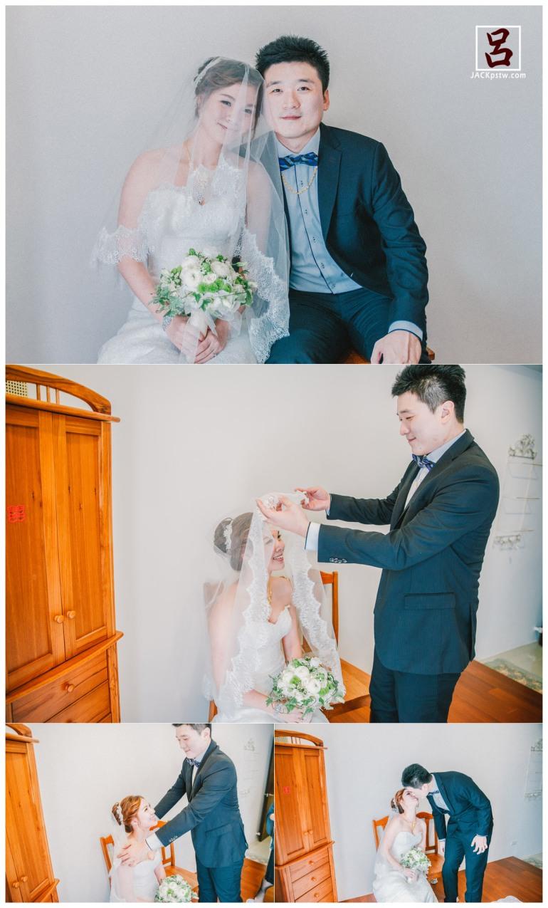 新郎掀開新娘面紗