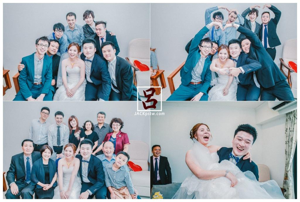 新娘好開心笑的好自然,大合照