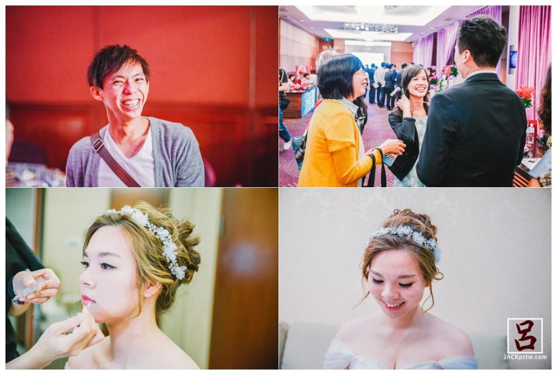 賓客陸續進場, 在新娘房拍幾張