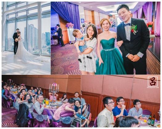 新郎新娘笑的好開心,有夫婦臉歐,賓客看到他們自制的影片超開心