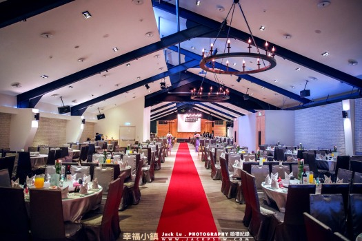 台北新莊終生大事婚宴會館,佈置很有氣氛