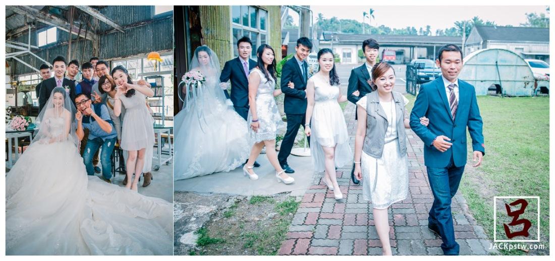 今天最佳新娘新郎準備出場,伴娘伴郎聽也是這邊的團員