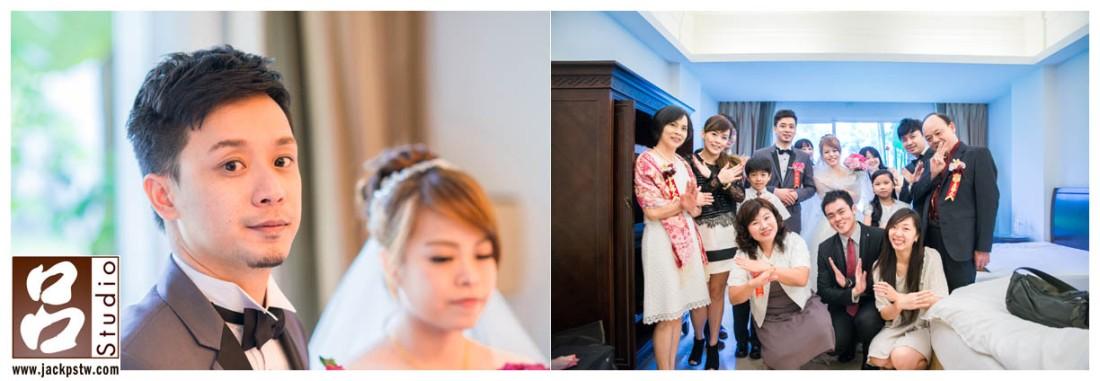 新娘的家人超配合的,爸爸應該也是很喜歡拍照