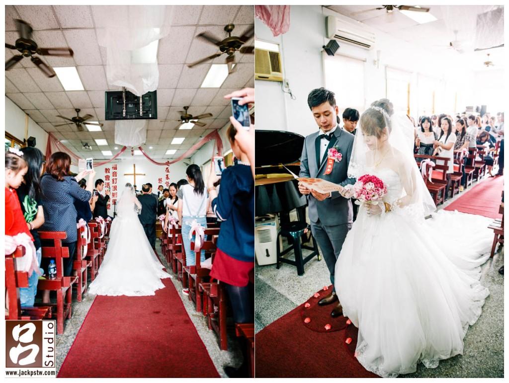 新人在親友的讚許和祝福下,於聖壇前結合,唱詩班會吟唱有關婚姻的歌曲