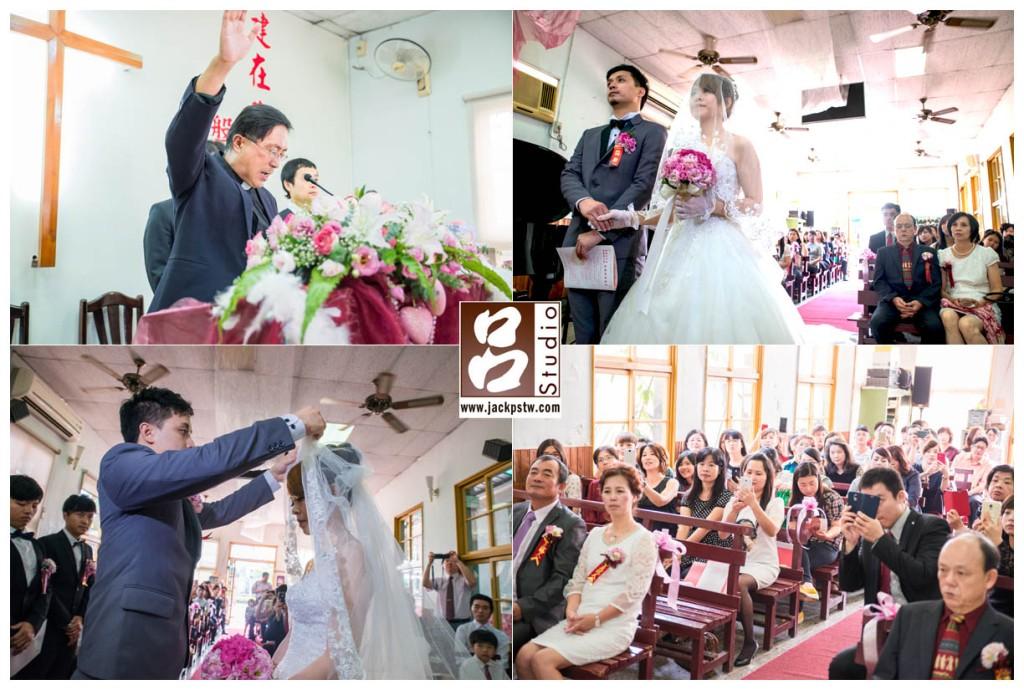 牧師宣讀婚約: 你願意 成為你的妻子,作為朋友和伴侶生活在一起嗎?你愛她、尊重她嗎?你願意與她平等、共同分享快樂無論痛苦、勝利還是在困惑中.... 掀頭紗儀式