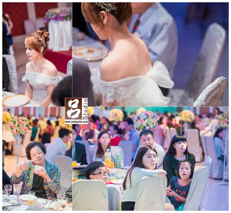 新娘穿上白紗很典雅