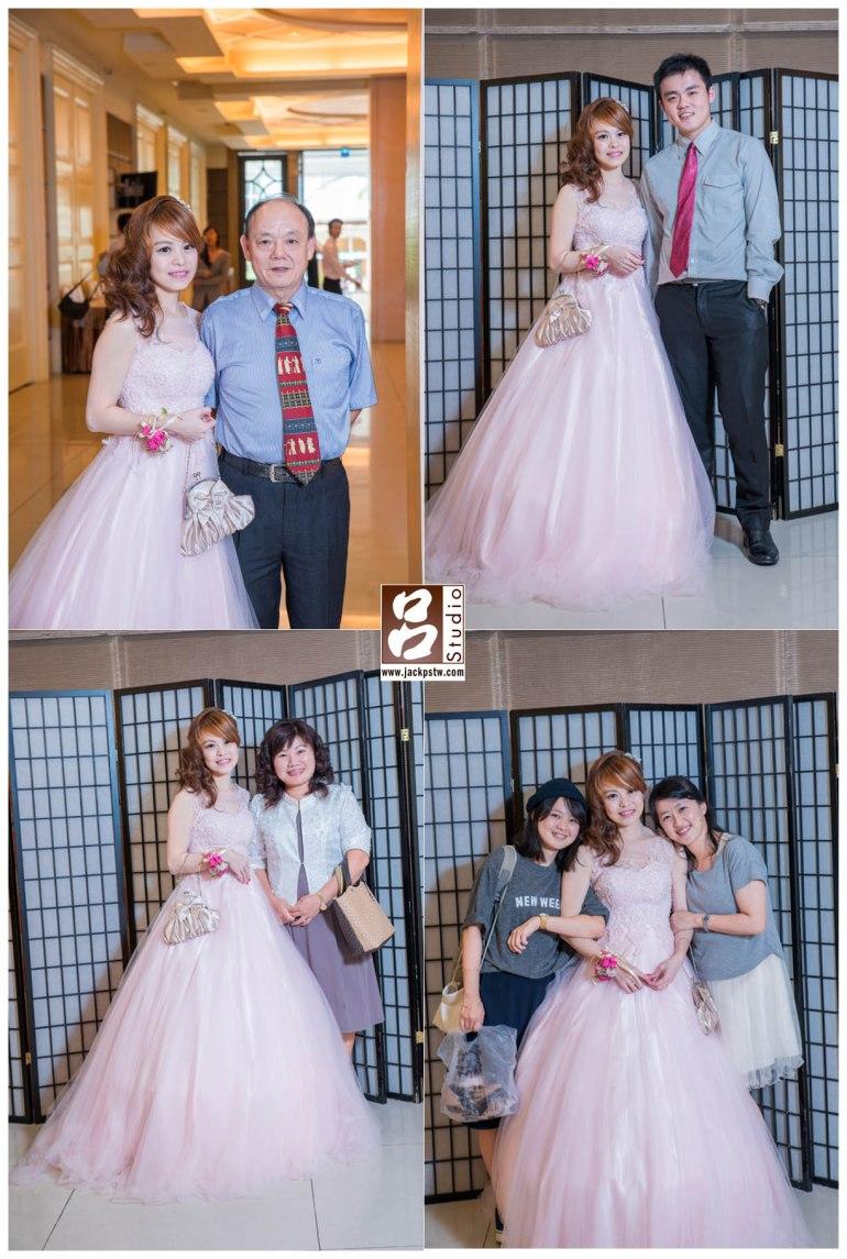 新娘特別要求與父親拍照,想必小時應該很疼新娘