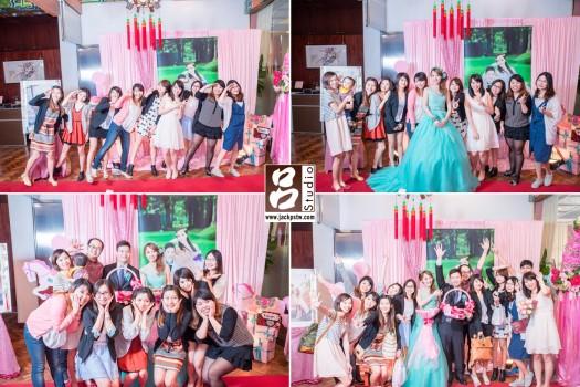 都是新娘的朋友,超歡樂,其實小呂已經不是第一次拍過他們