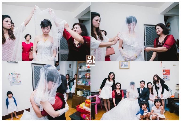 新娘拜別父母是最感人時刻,每位新娘家庭背景不同,每位的反應都相當奇妙