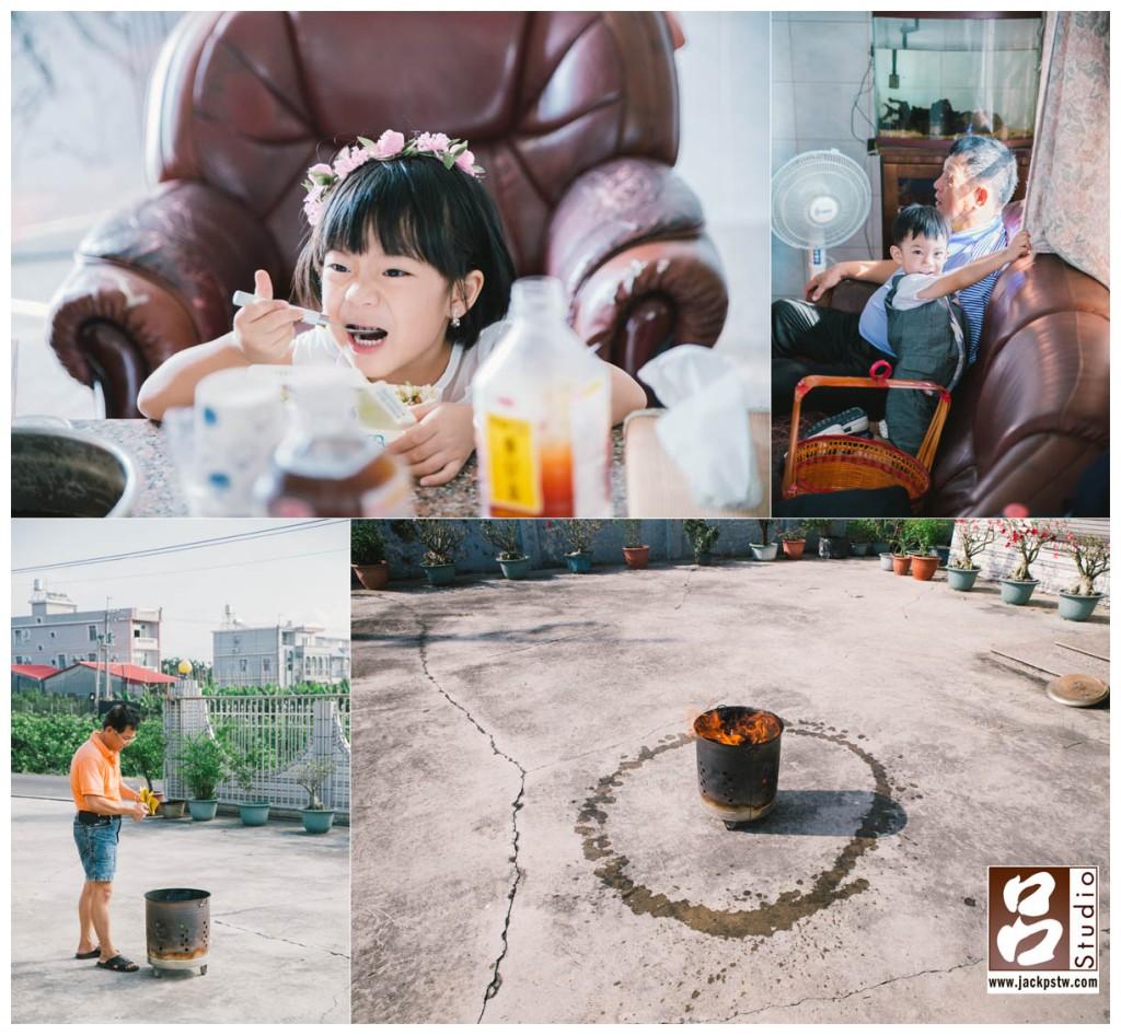 活潑的小朋友,川島小鳥拍的未来ちゃん的小女孩,父親燒金紙