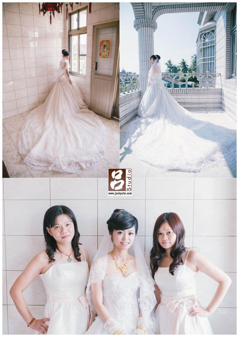 新娘新家還滿大拍幾張圖照,與伴娘拍照