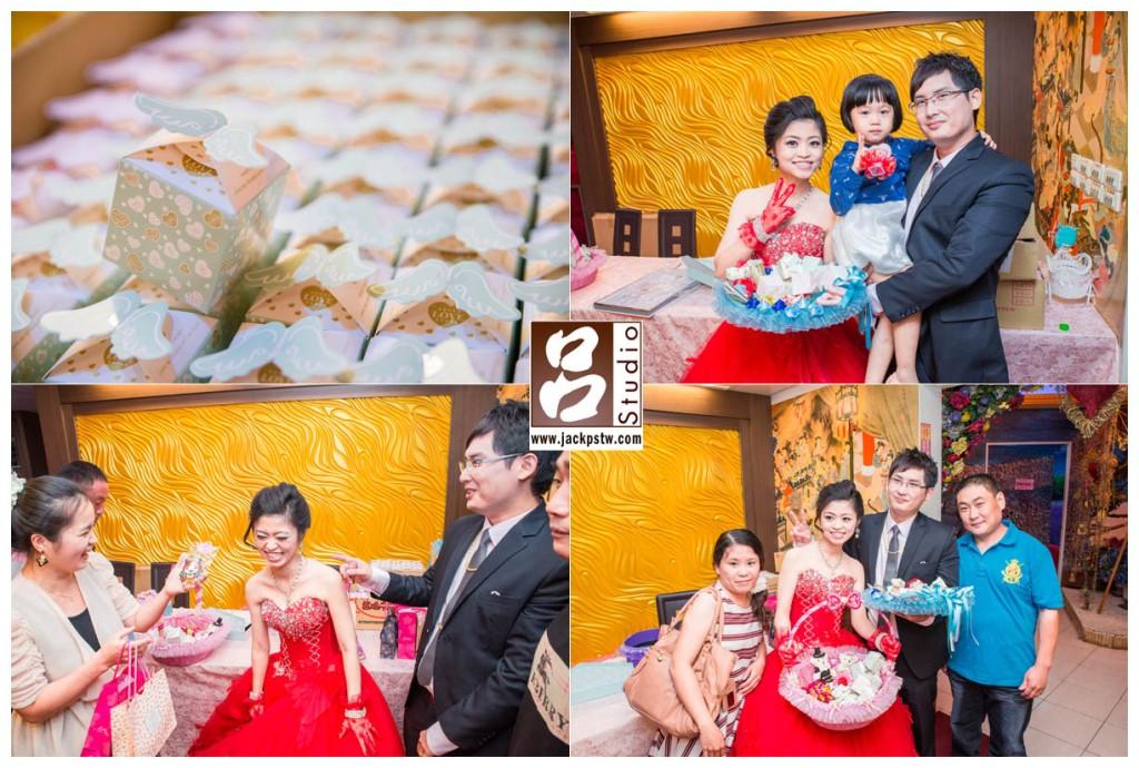 最後送客了,新娘換上大紅禮服,建議新娘把最喜歡的晚禮留在最後一套,其實這樣賓客也有機會跟你近距離接觸也可拍到合照