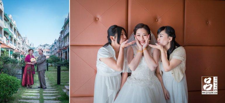 旁邊的長輩說爸媽結婚都沒拍到照,叫老爸也跪下求婚