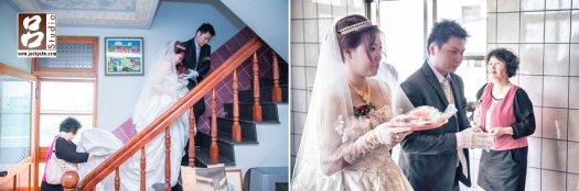 祭拜祖先,告訴先祖今天新娘已然順利娶回家