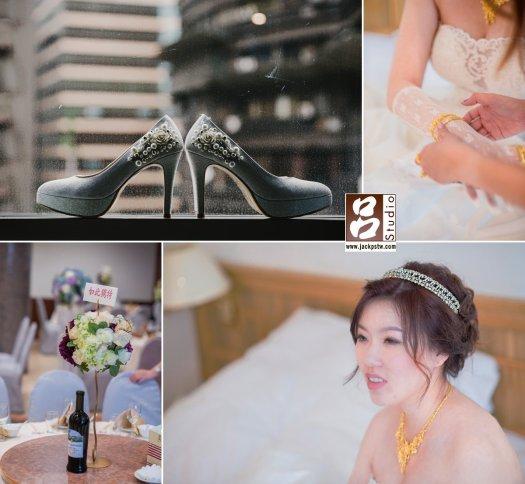 趁午宴未開始,先在新娘房拍幾張細節照