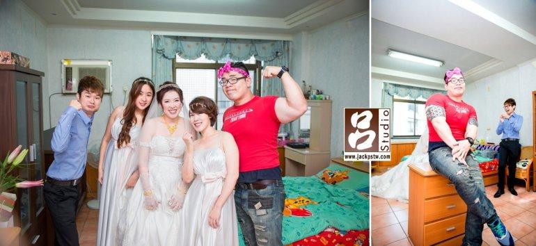 新娘特別找來新郎闖關的打手