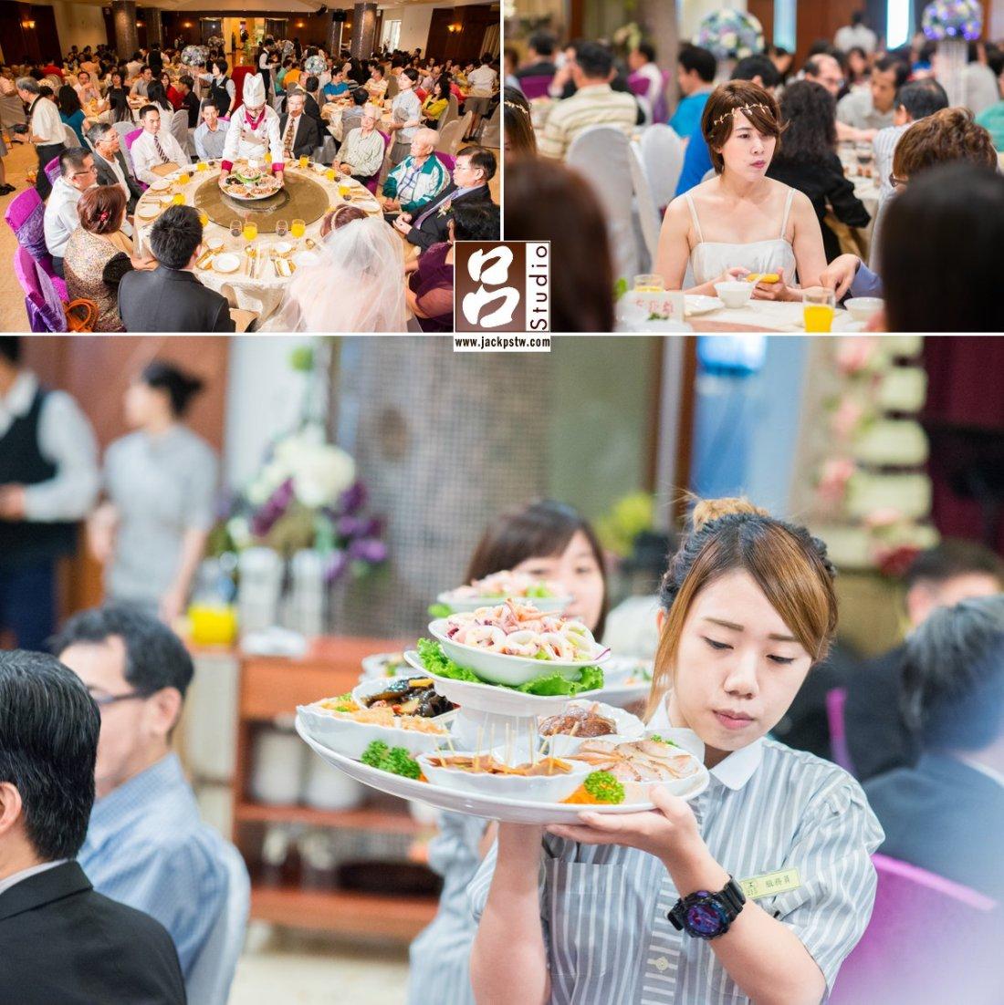 台南大飯店婚宴的上菜秀