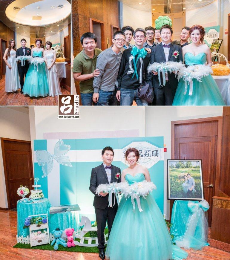 愛琳時尚花藝設計特別準備的背景相當搭新娘今天晚禮服