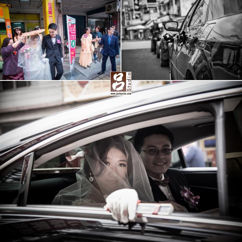婚禮記錄-結婚囍宴-珮榕-新人上車,準備丟扇子
