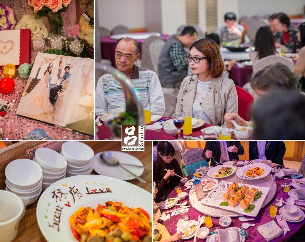 臻愛婚宴會館特別為新人準備的菜色