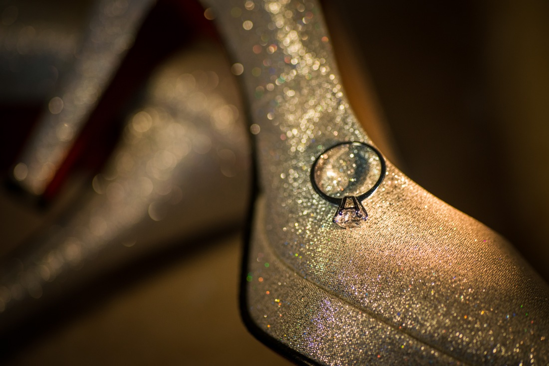 新娘的婚鞋+戒指