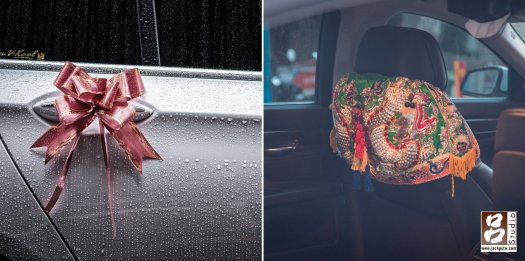 禮車上的彩花