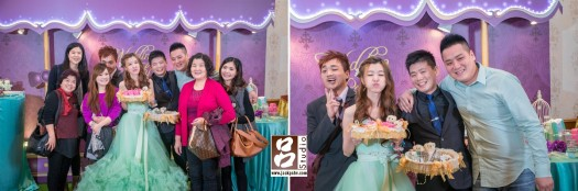 新郎新娘與賓客合照