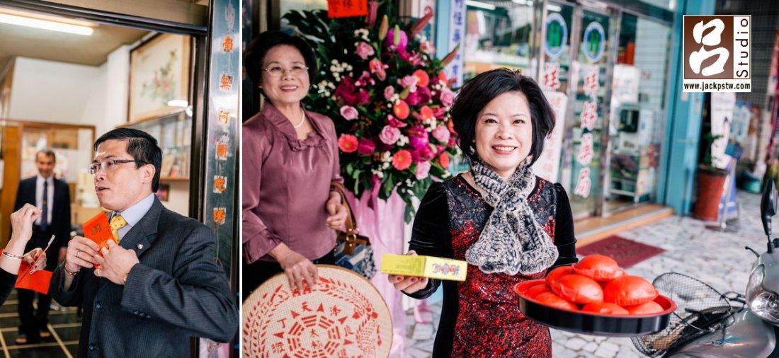 新郎的母親準備麵桃,小呂這個還是第一次見到應該台南當地的習俗