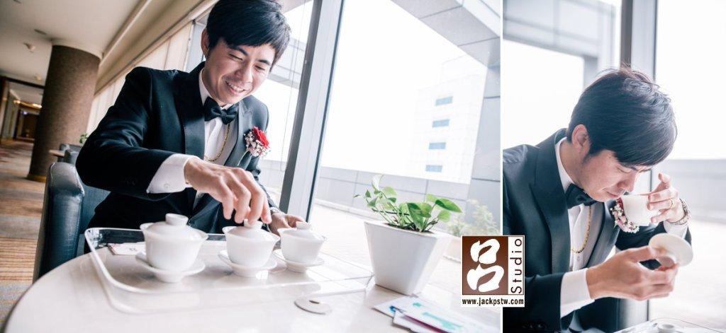 新娘父親是為品茶專家,特別準備這個給新郎