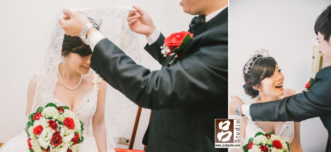 掀新娘頭紗