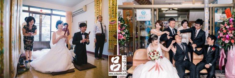 父母向神明和祖先報告新娘今天以順便娶回家