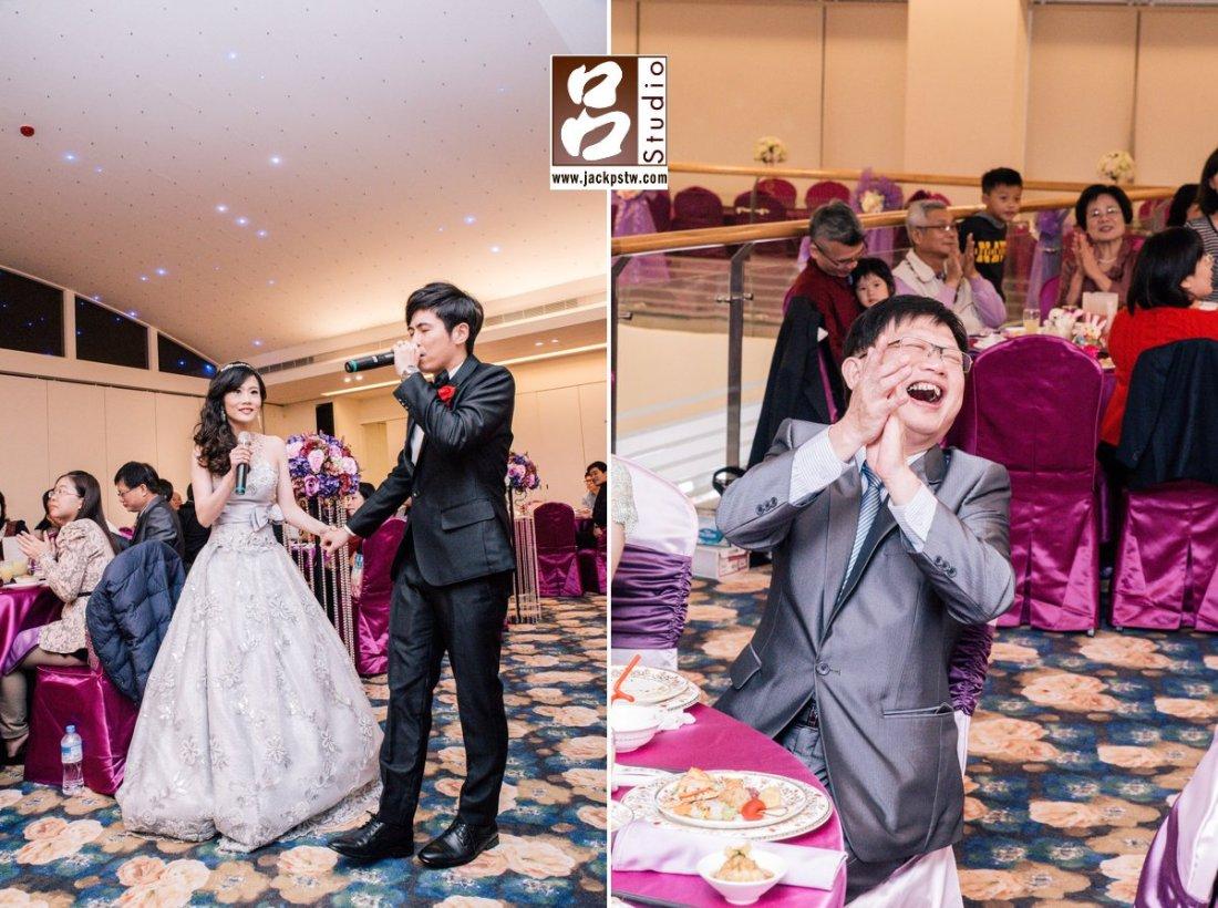 二次進場,新人唱歌方式進場,父親看到超開心的表情