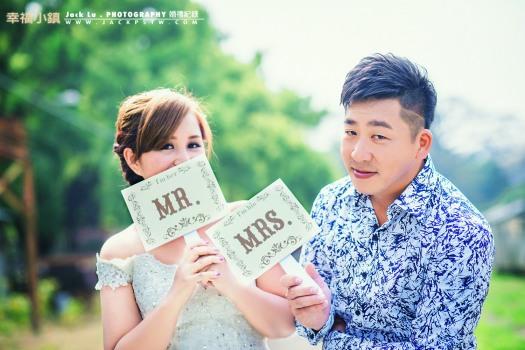 新娘很用心,花了很多心思在準備婚禮東西