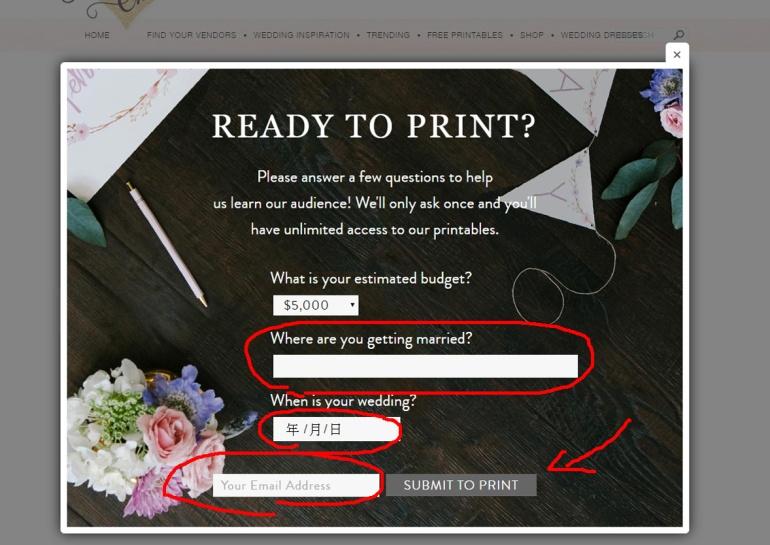 這邊會問下你們一些婚禮資料,像你們結婚地點和日期,和E-mail