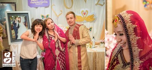 小呂一直記當天新人的對話, 新娘子說這次阿拉丁的衣服,新郎就說this is not Aladdin