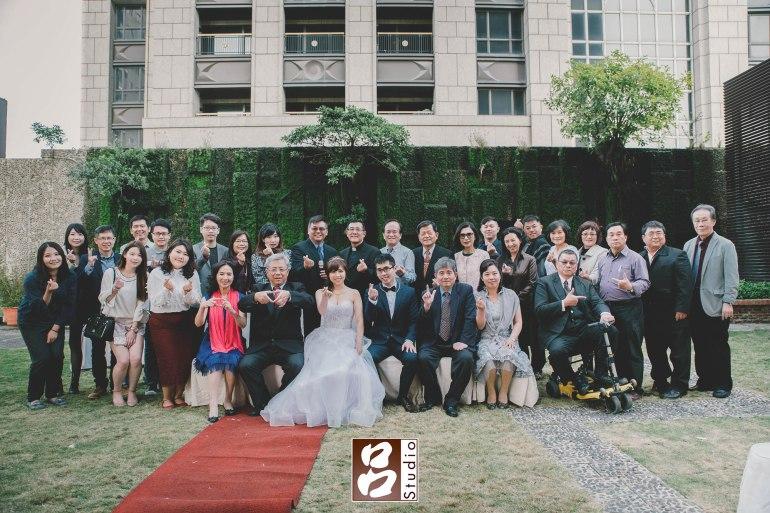 訂婚典禮結束後大合照