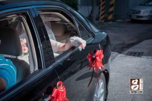 新娘丟扇子儀式