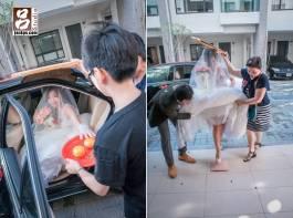 新娘到新家下車摸橘子,和過火