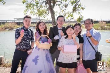 新郎新娘送客