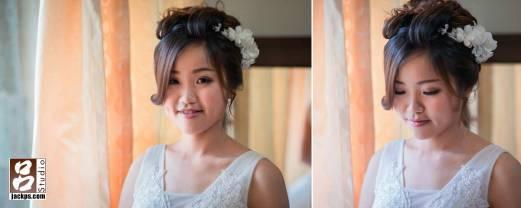 新娘化好妝