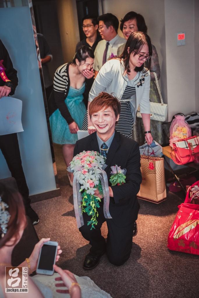 新郎終於見到新娘