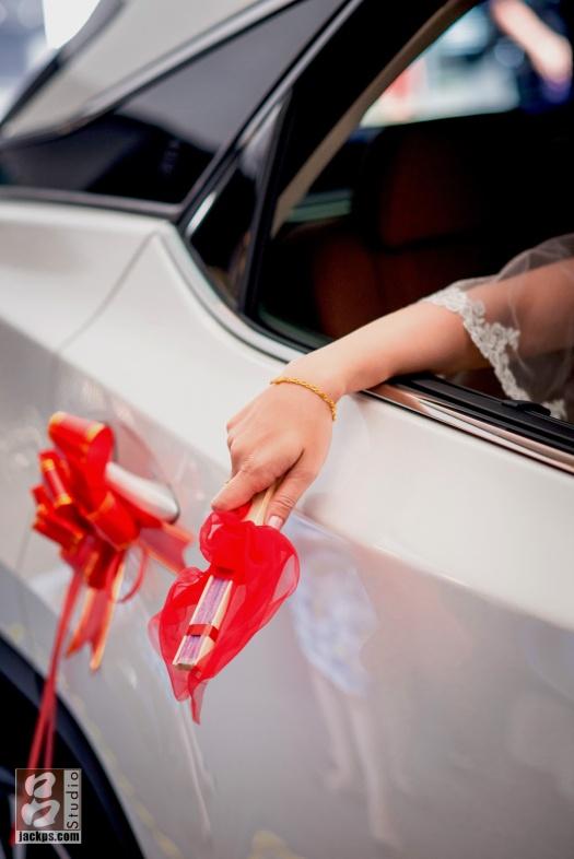 新娘丟扇子習俗