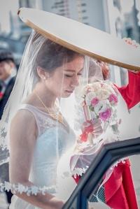 新娘上禮車畫面