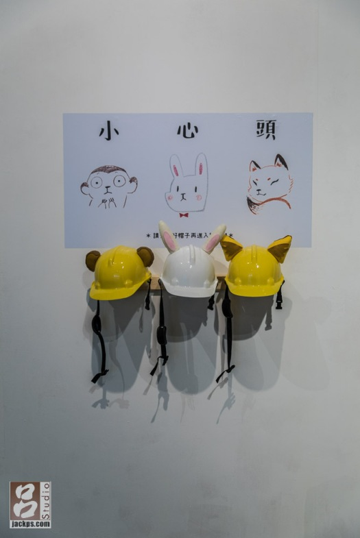 動物插畫,工地帽
