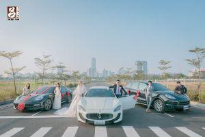 左保時捷 PANAMERA、瑪莎拉蒂 Maserati grancabrio、保时捷瑪 Cayenne
