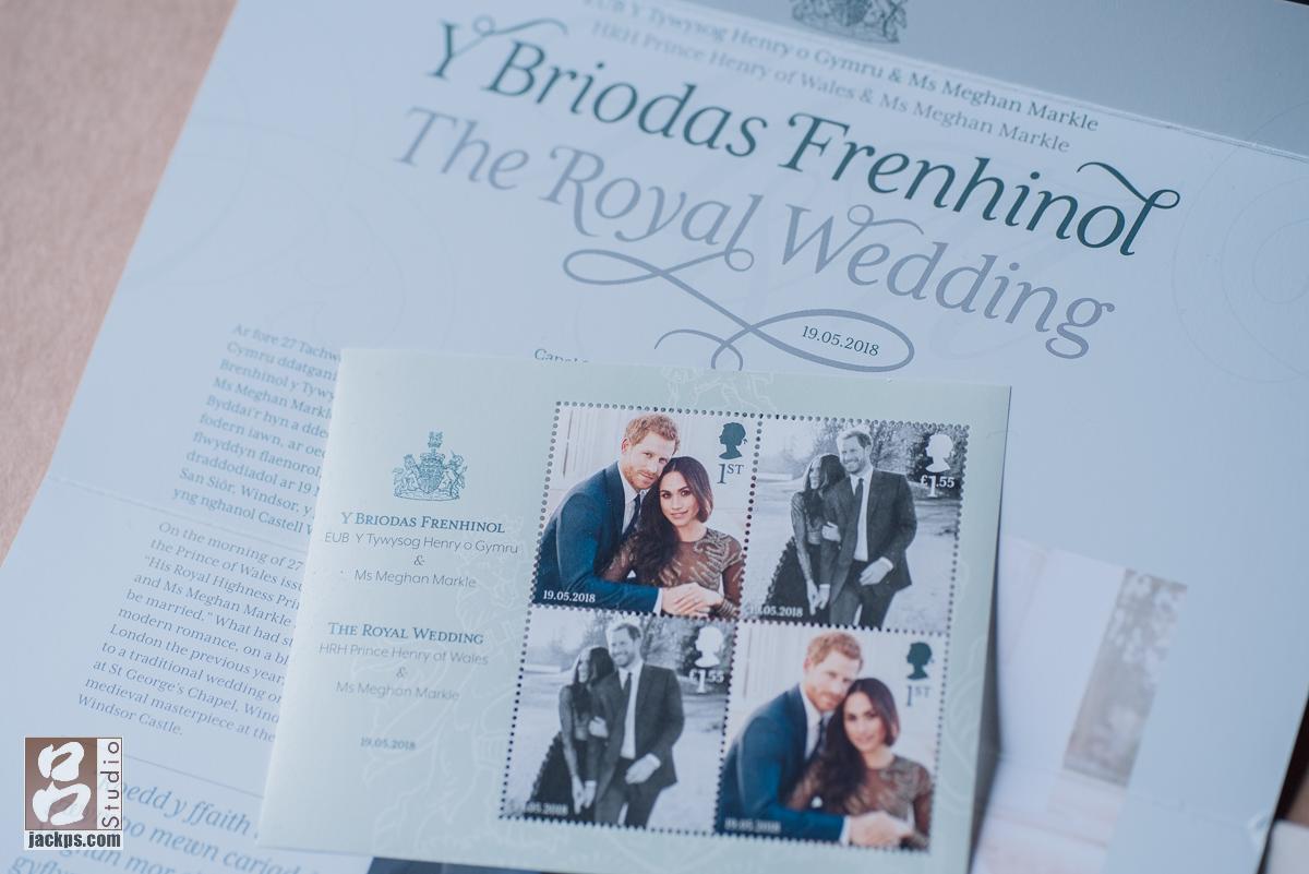 英國帶回來的哈利王子和梅根訂婚郵票